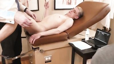 Kinky urologist is fucking that twink patient in his office