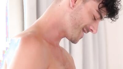 Kinky stepbrothers Cory and Jake in raw gay sex scene